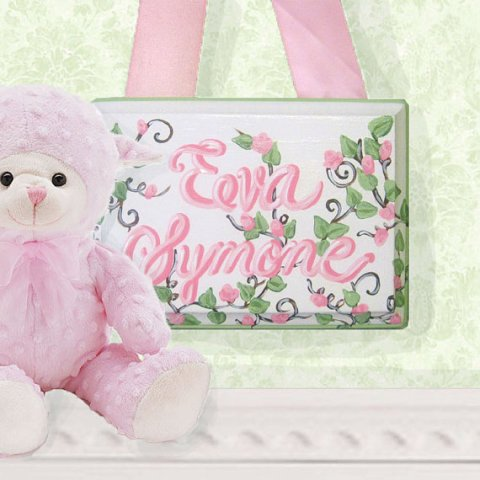 Personalized 8x10 Hand Painted Girls Name Sign