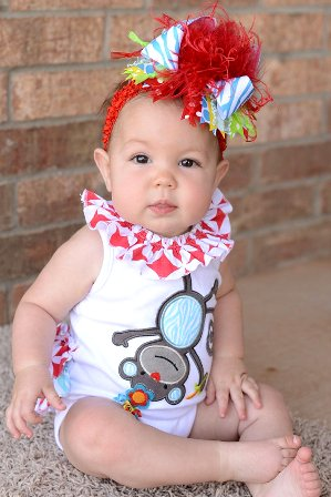 Zebra Circus Over The Top Hair Bow Headband