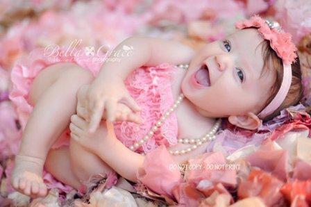 Sweet Pink Lace Petti Romper