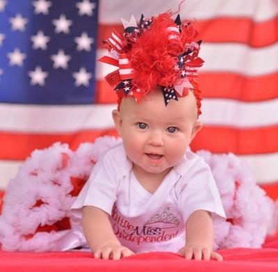 Lil Miss Independent American Princess Baby Girl Onesie