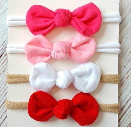 Starter Set of 4 Infant Knot Baby Bow Headbands