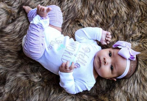 59e2c7529 ... Hello World Personalized Lavender and Aqua 4pc. Onesie Leg Warmers and Headband  Outfit Set