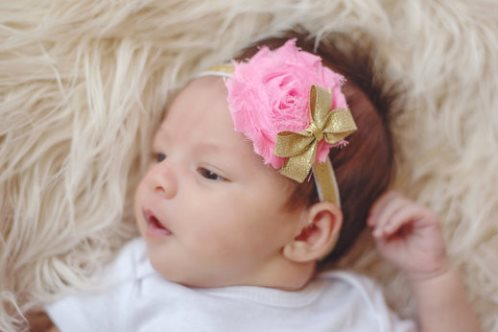 Personalized Pink and Gold 3pc. Onesie Tutu Diaper Cover and Headband Outfit Set