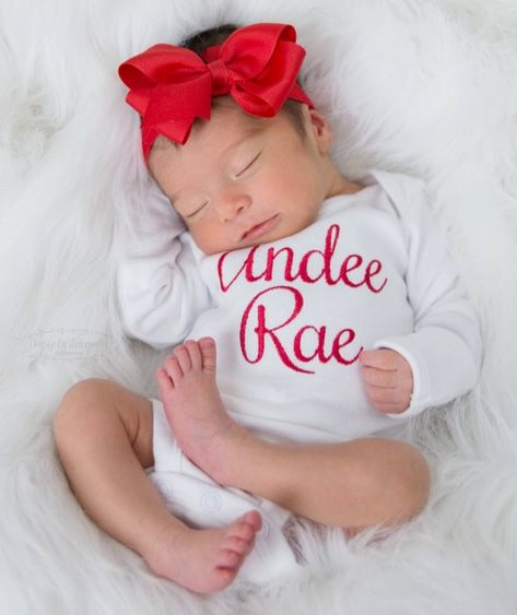 Monogrammed 4pc. Red and White Onesie Leg Warmers and Headband Outfit Set