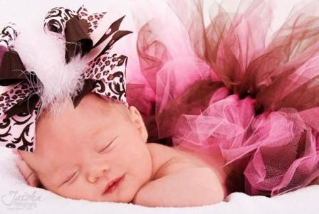 Sweet Girl Brown and Pink Large Hair Bow Headband