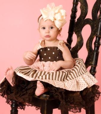 Big Cream Over the Top Satin Baby Triple Ruffle Headband