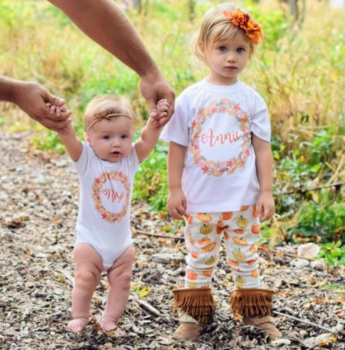 Fall Leaves Personalized Thanksgiving Shirt