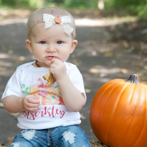 Personalized Floral Pumpkin Patch Shirt