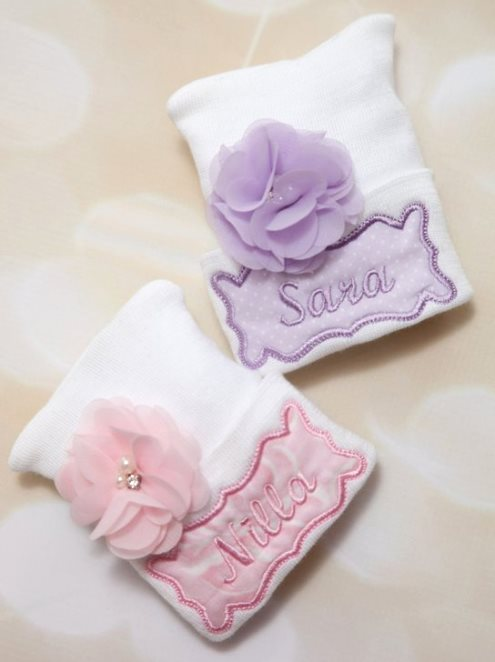 Personalized Newborn Hospital Flower Hat