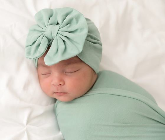 Choose Color - Messy Bow Baby Turban Hat