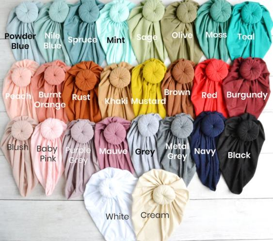 Choose Color - Knot Baby Turban Hat