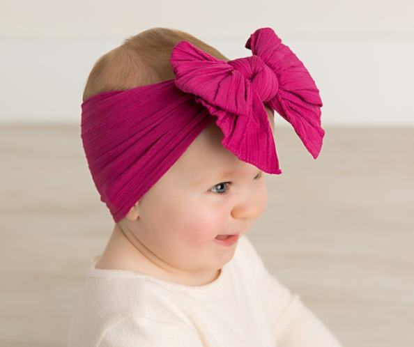 Choose Color - Cable Knit Messy Bow Nylon Headband
