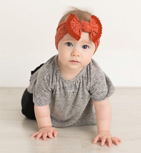 Choose Color - Polka Dot Pom Pom Nylon Bow Headband