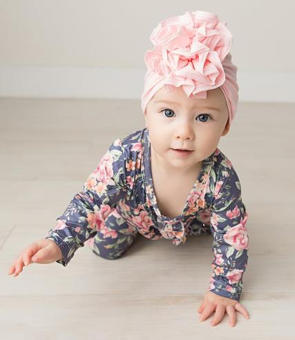 Choose Color - Ruffle Top Baby Turban Hat