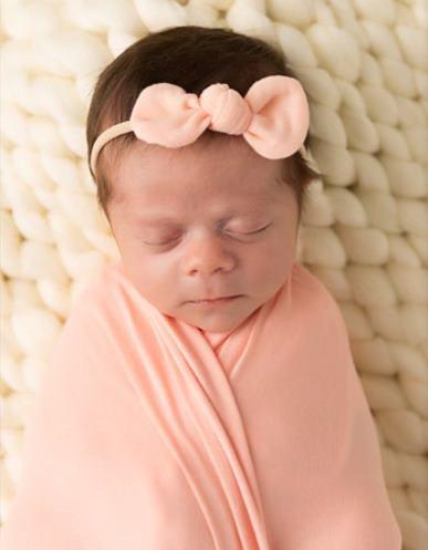 Choose Color - Newborn Knot Bow Nylon Headband
