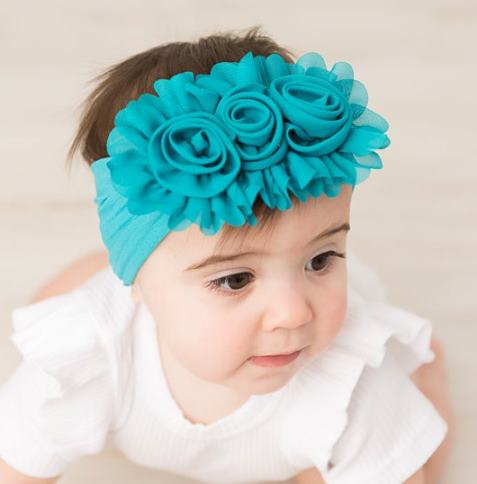 Choose Color - Chiffon Flower Nylon Headband