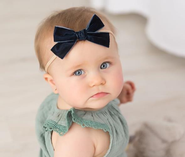 Choose Color - Skinny Nylon Velvet Bow Headband