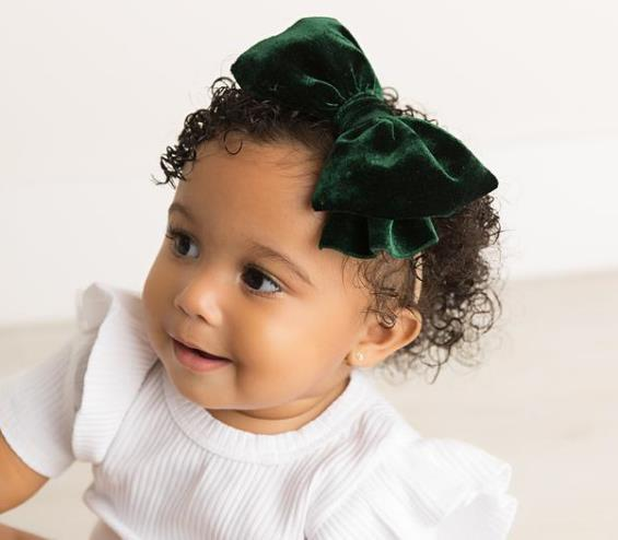 Choose Color - Velvet Messy Bow Nylon Headband