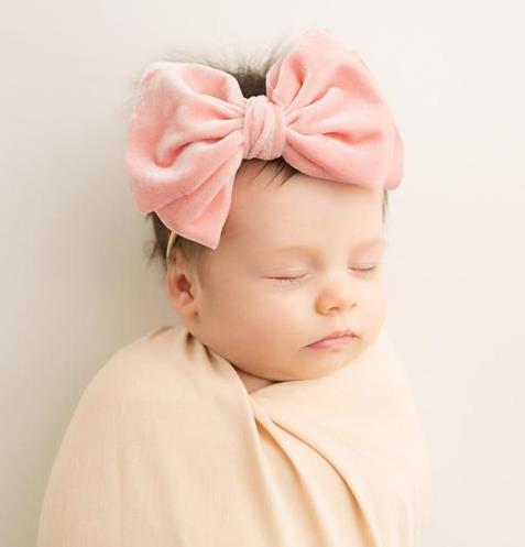 Choose Color - Velvet Messy Bow Nylon Headband