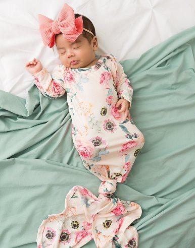 Josie Floral Newborn Knotted Gown