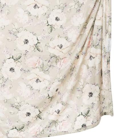 Soft Floral Swaddle Blanket