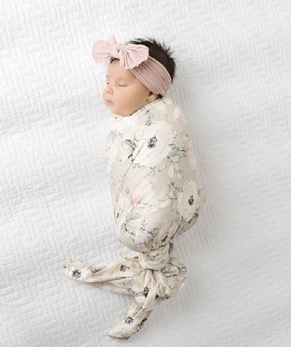 Soft Floral Swaddle Blanket