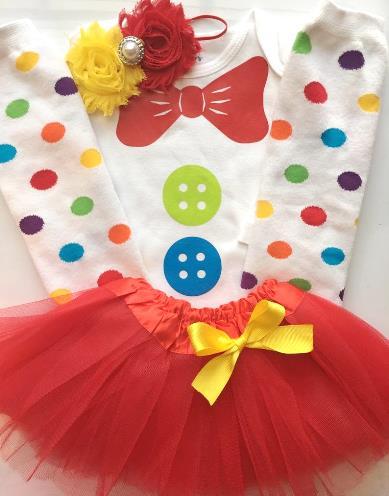 Colorful Circus Clown Bodysuit