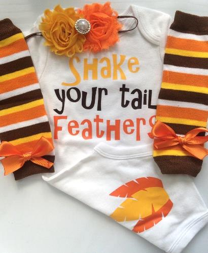 Shake Your Tail Feathers Thanksgiving Bodysuit