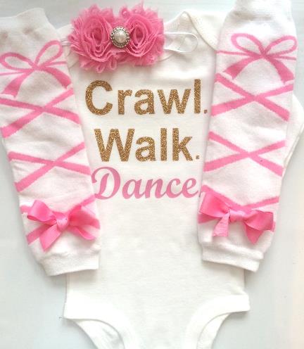 Tiny Dancer Pink & Gold Glitter Bodysuit