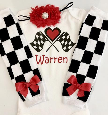 Personalized Race Car Driver Halloween Costume Bodysuit
