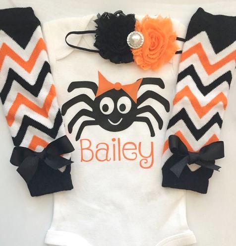 Personalized Spider Halloween Bodysuit