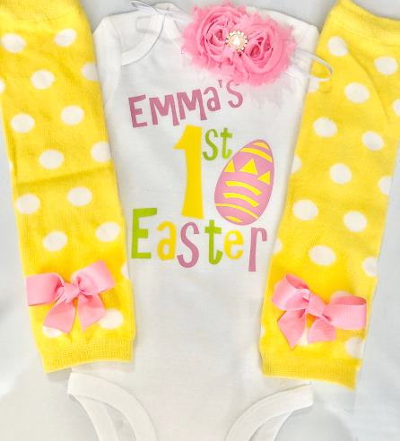 Personalized My 1st Easter Bodysuit