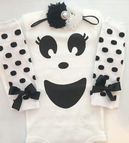Baby Ghost Halloween Bodysuit