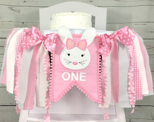 Some Bunny is ONE First Birthday High Chair Banner