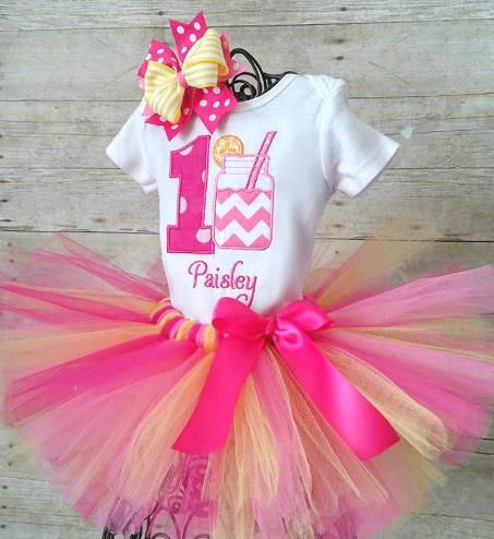 Personalized Pink Lemonade 1st Birthday Tutu Outfit