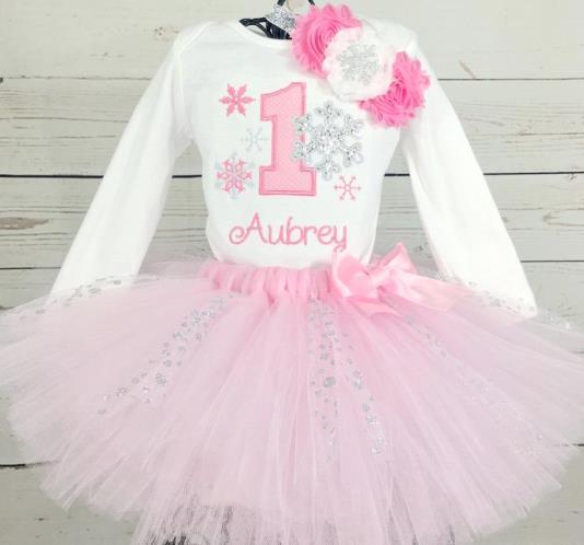 First Birthday Snowflake Tutu Outfit Set