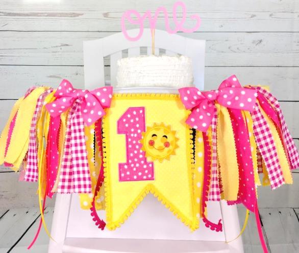 Sunshine 1st Birthday High Chair Banner