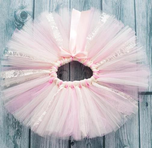 Pink and Ivory Lace Tutu
