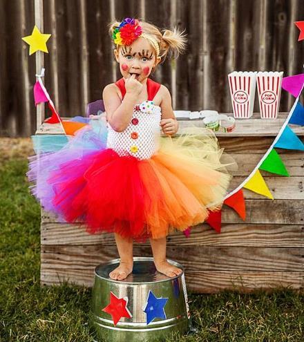 Clown Tutu Dress Halloween Costume