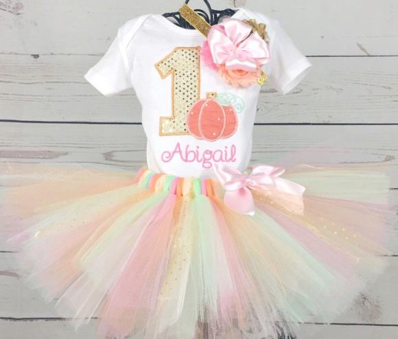 Our Little Pumpkin First Birthday Tutu Outfit