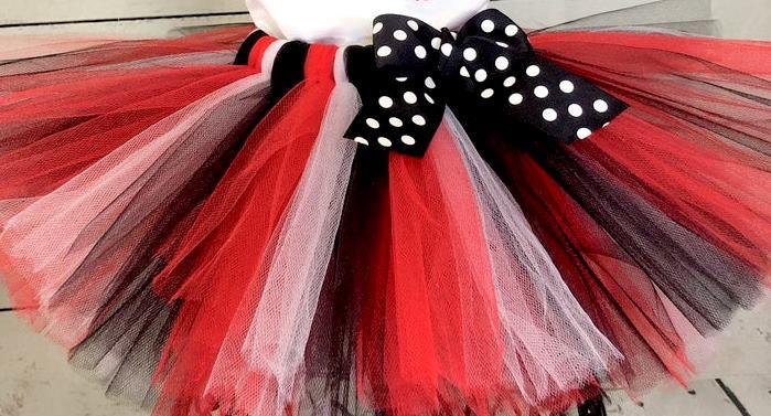 Red & Black Poofy Tutu