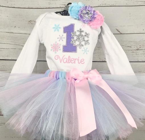 Winter ONEderland First Birthday Snowflake Tutu Outfit