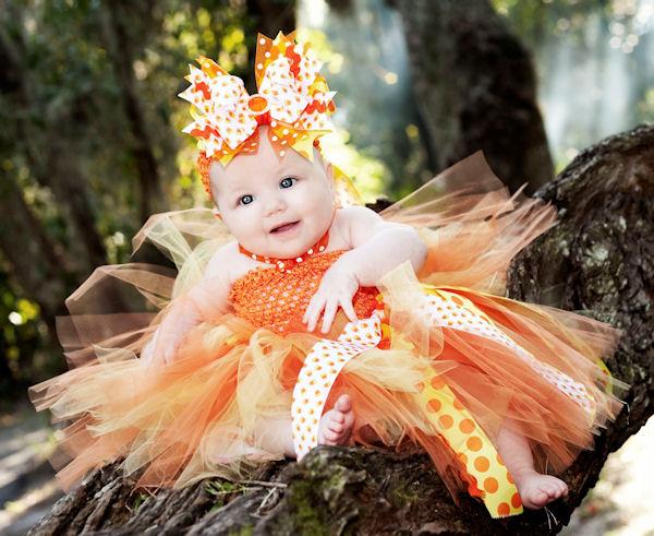 Glitzy Candy Corn Fall Tutu Dress