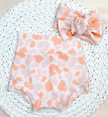 Blush Leopard Bummies & Headband Set