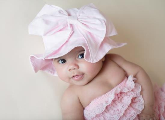 Light Pink Sun Hat with Large Bow