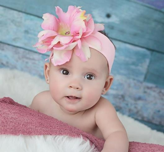 Pink Peony Flower Headband