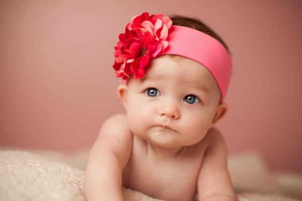 Candy Pink Raspberry Geranium Flower Headband