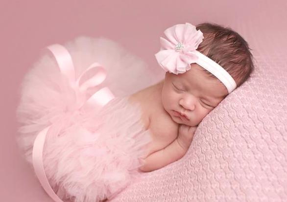 Soft Pink Newborn Tutu & Matching Headband