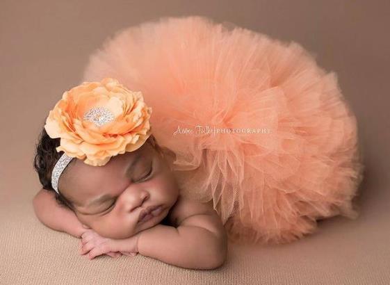 Baby Girl Tutu Peach Baby Tutu Half Birthday Infant Tutu Newborn Peach Tutu Newborn Photography Prop Peach Cake Smash Peach Headband
