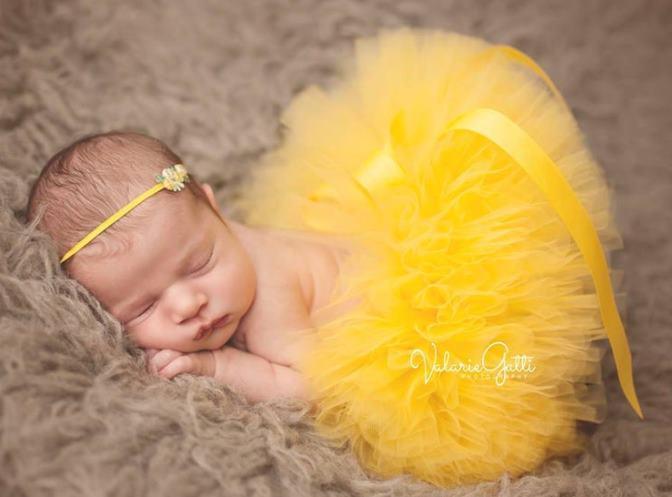 Sunshine Yellow Baby Girl Tutu